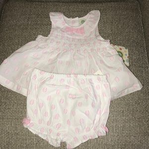 Baby Girls Dress and Bloomers